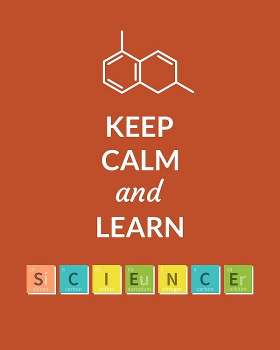 Keep Calm and Learn Science poster