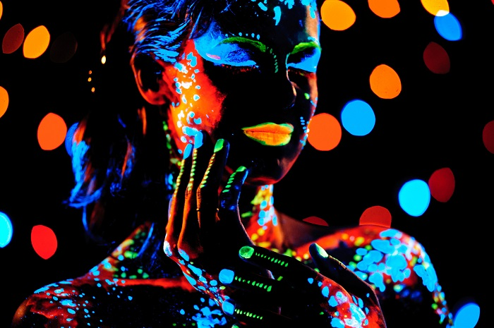 A Portrait Blacklight Poster