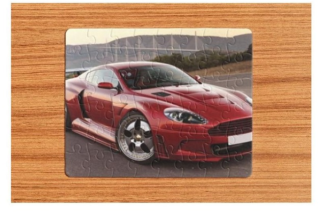 A Sports Car Print for Puzzles