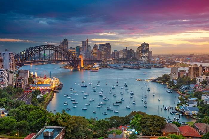 A Sydney cityscape poster