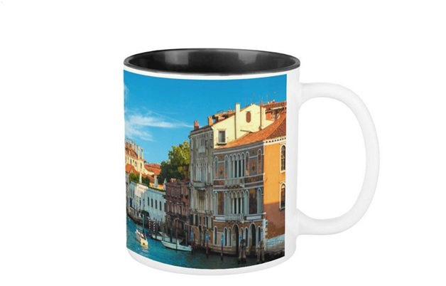 A Travel Print on a Mug