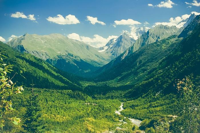 A mountains landscape