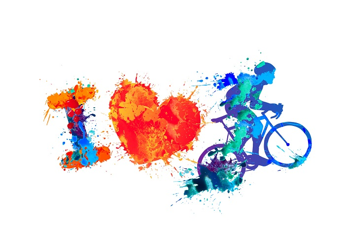 I Love Cycling Print