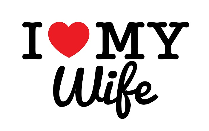 I Love My Wife Print