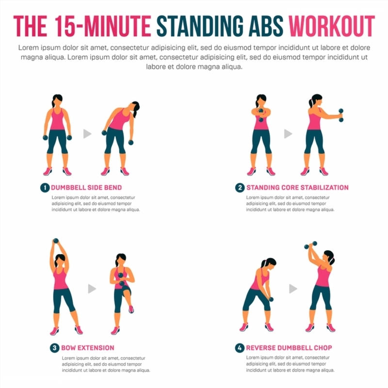Poster of 15 Minute Standing Abs Workout