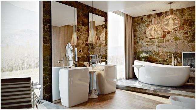 beautiful bathroom designs | 29 Gorgeous Ideas for Bathroom Wall Decor | PrintMePoster ...