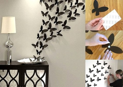 DIY Butterflies Wall Art