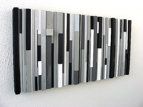Modern Wall Art Wood Sculpture