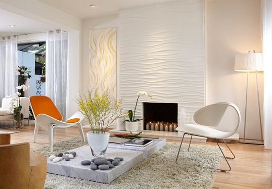 Textured Wall Panel for Living Room