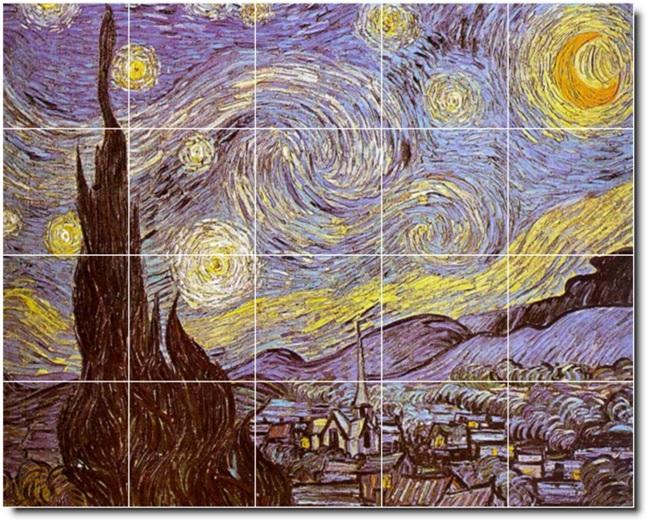 Van Gogh Kitchen Tiles