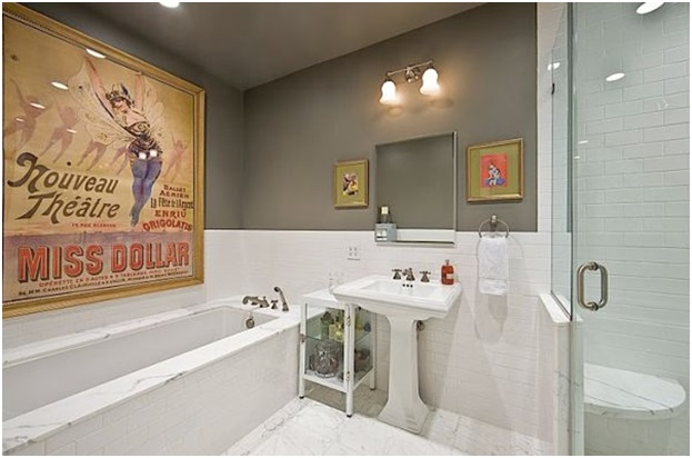 Vintage Poster for Bathroom