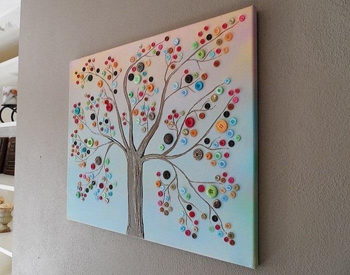 Button Tree Wall Decor