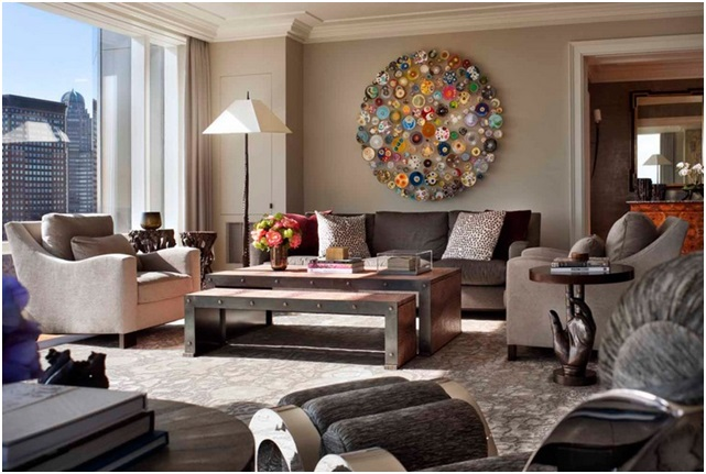 what are the best ideas for contemporary living room wall decor