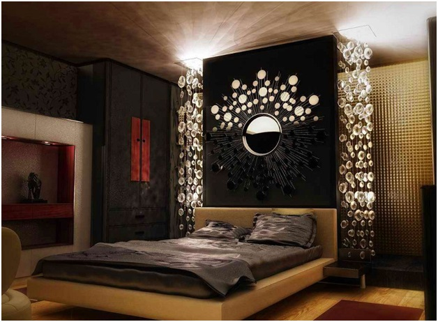 Creative Headboard with Mirrors