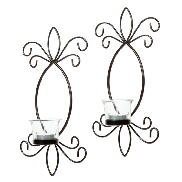 wrought iron wall decor  review of hosley iron tea light