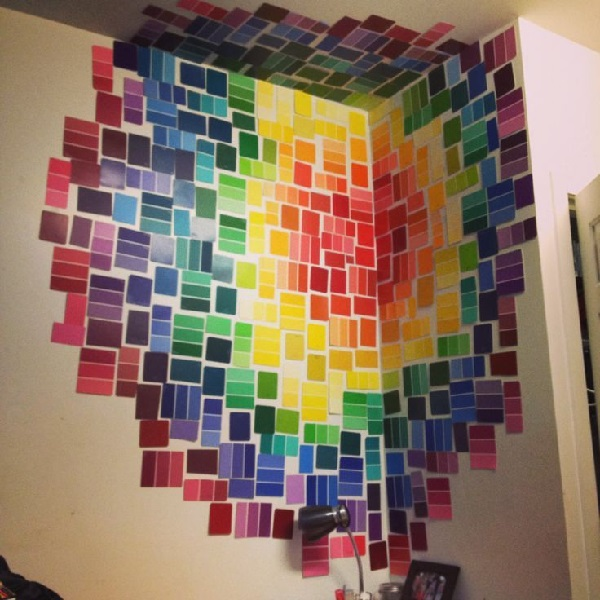 Paint Chip Wall Decor