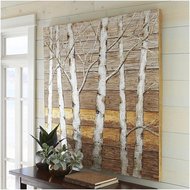 Painting on Wood Planks