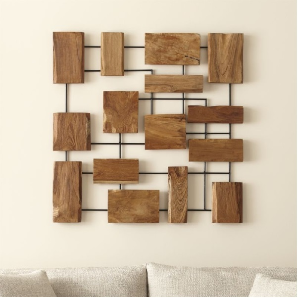 Wood Metal Wall Art