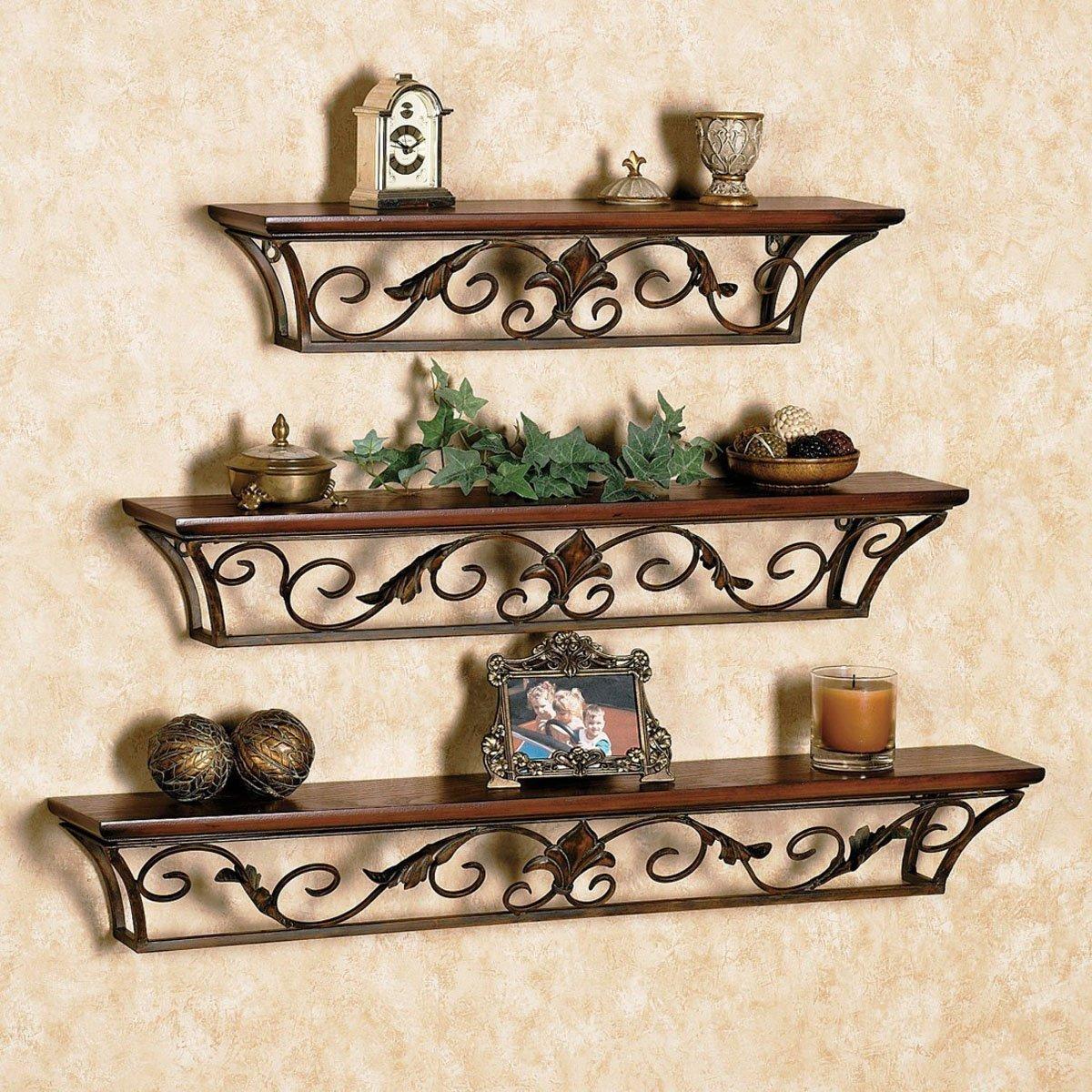 glamorous wrought iron kitchen wall shelves | 15 Beautiful Ways of Using Iron Wall Decor at Home ...