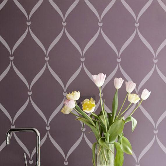 Ribbon Lace Wall Stencils