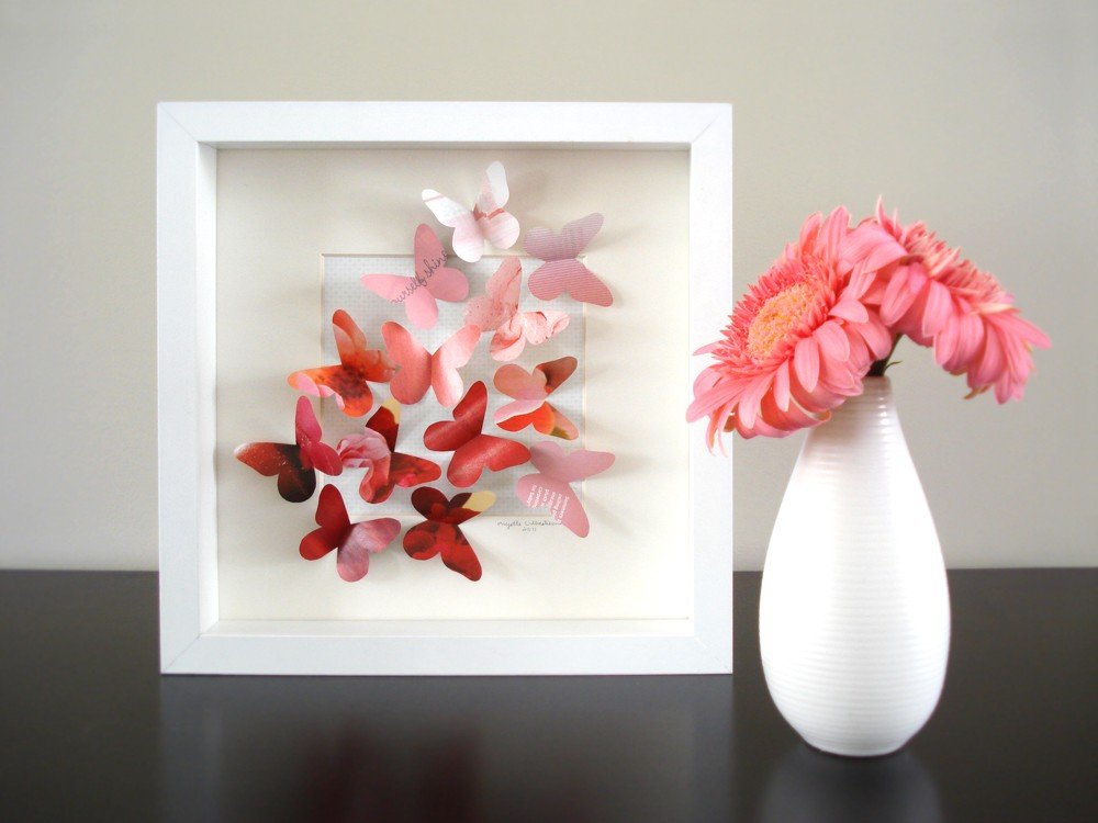 How Make Cute Butterfly Wall Decor From Paper