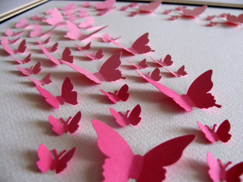 How to Make Cute Butterfly Wall Decor from Paper?   PrintMePoster ...