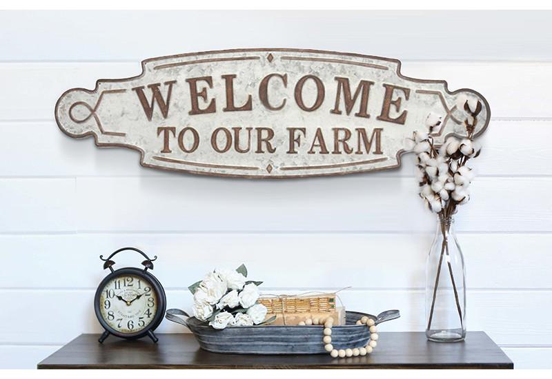 Metal Farmhouse Wall Sign