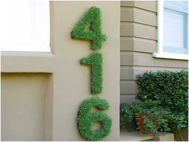 Artificial Turf House Number