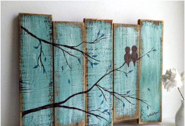 Painted Art on Wood