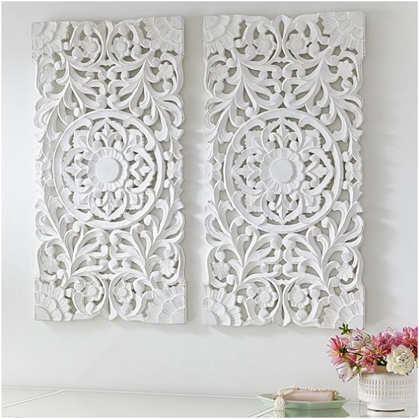 White Wood Wall Decor