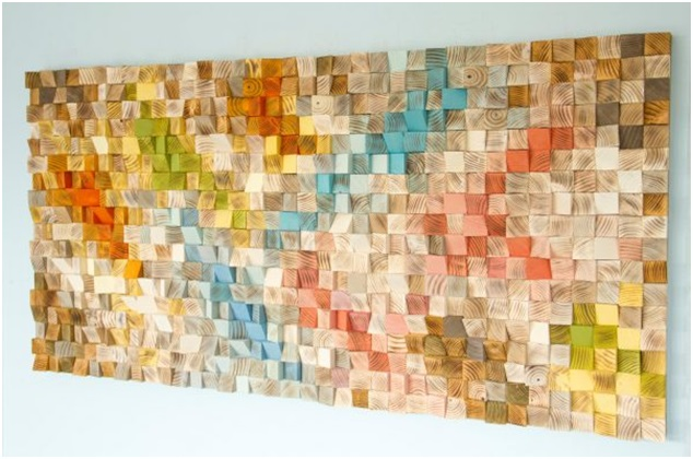 Wood Pieces Wall Art