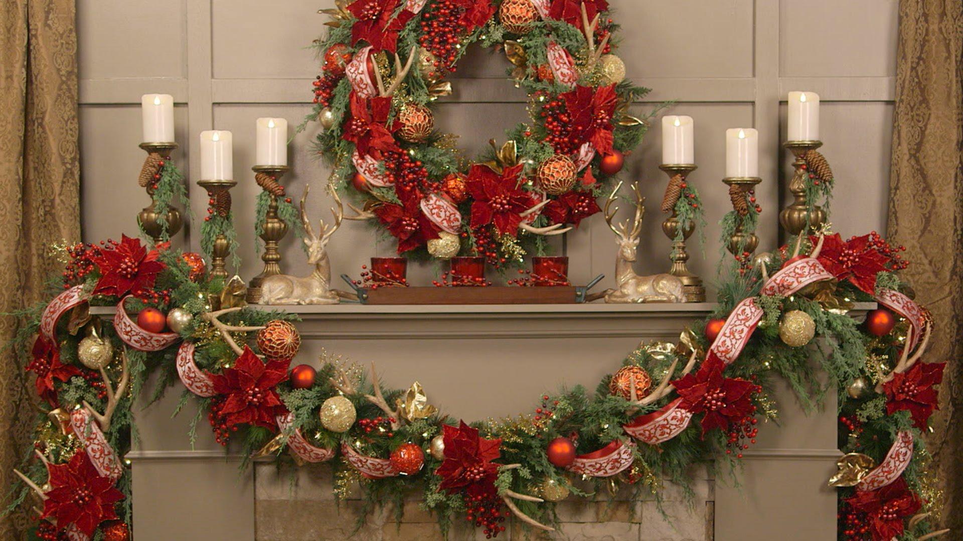 how to enhance home with christmas wall decor printmeposter com blog rh printmeposter com  decorated christmas garlands with lights