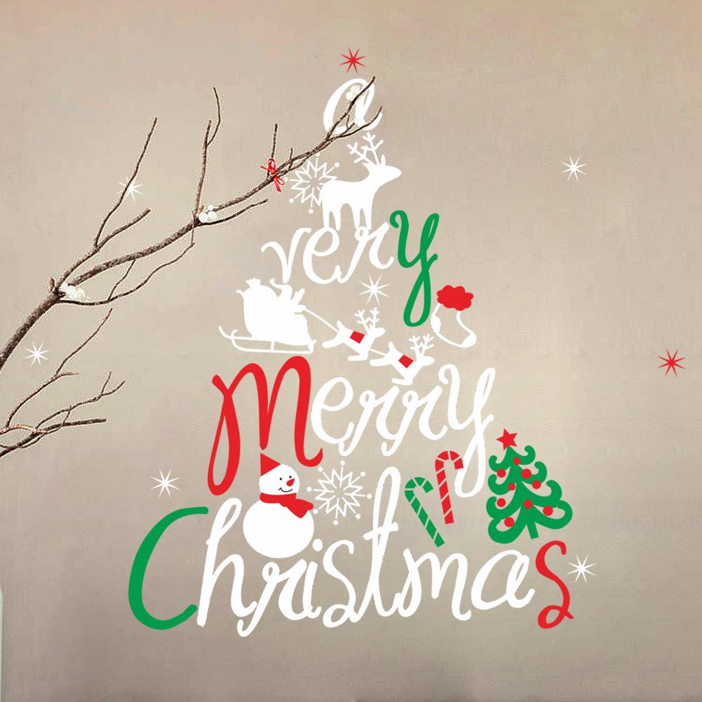 merry christmas wall stickers