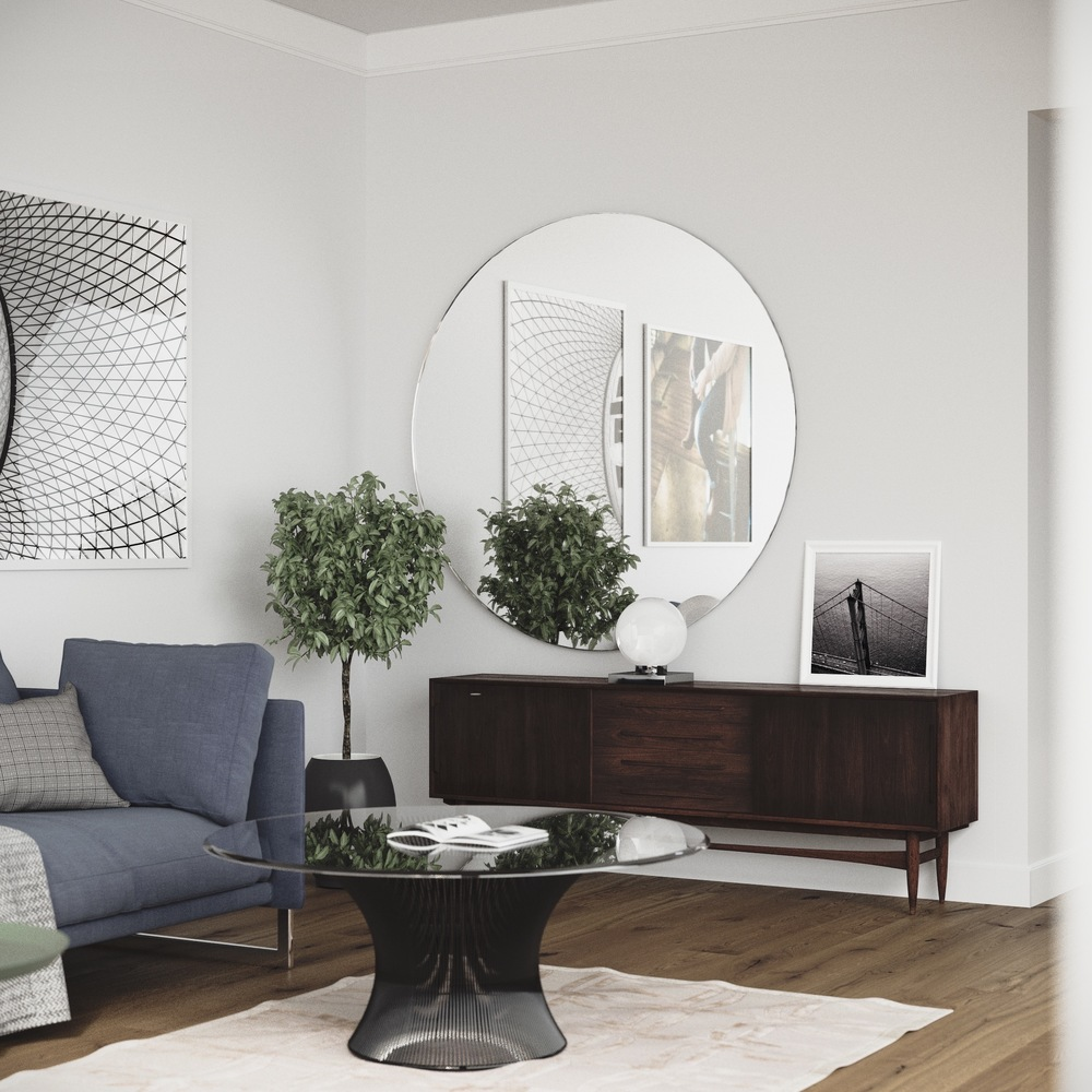 Mirror Room: How To Decorate Walls In Scandinavian Style: Living Room