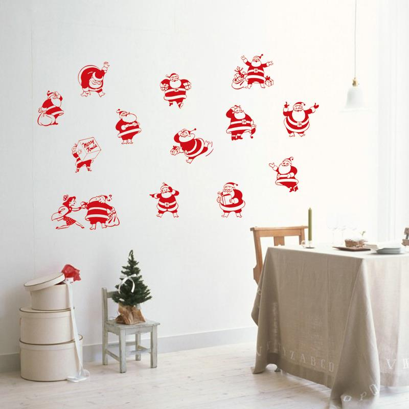 SantaClaus Stickers Wall Decor