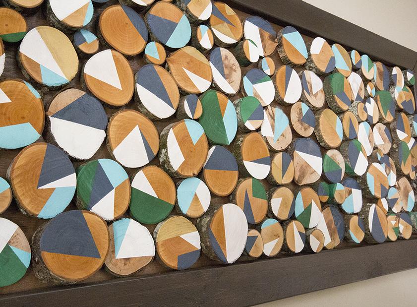 DIY Wood Slice Wall Art