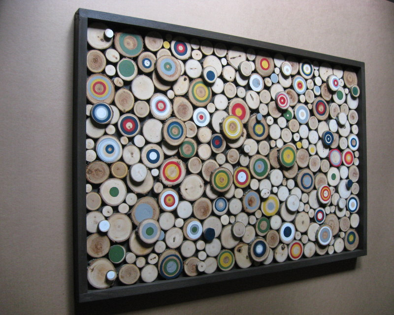 Framed Wood Slice Wall Art