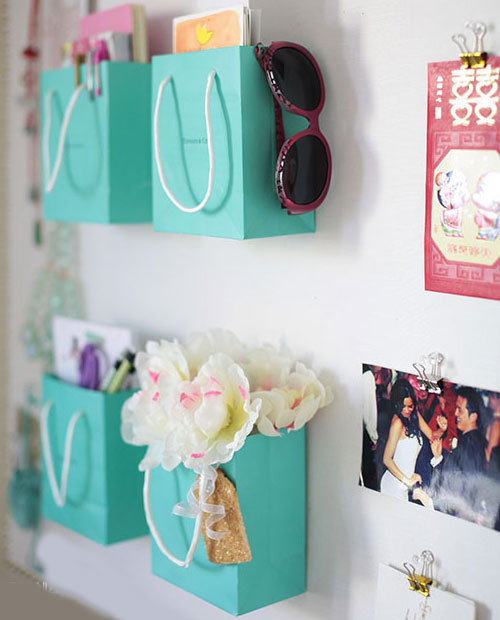 Shopping Bags Wall Organizer