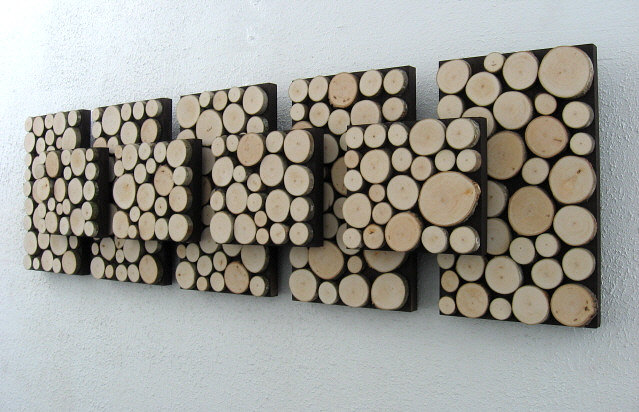Wood Slice Wall Sculpture
