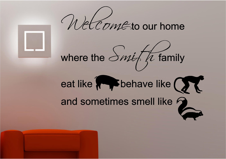 Funny Family Wall Decor