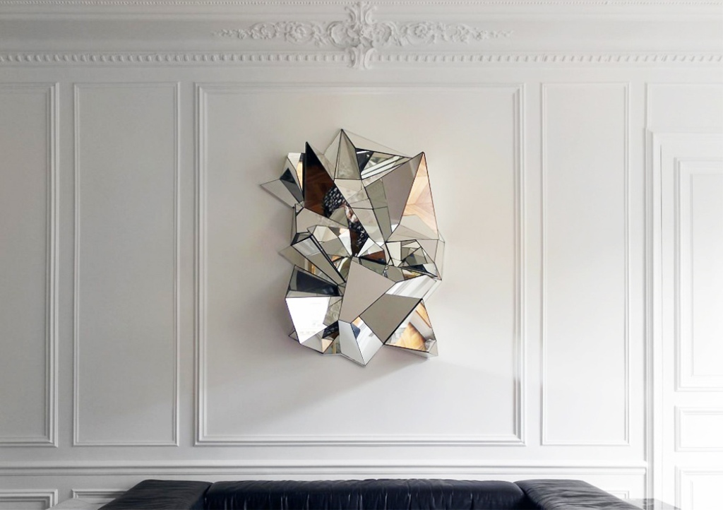 Contemporary Mirror Wall Sculpture