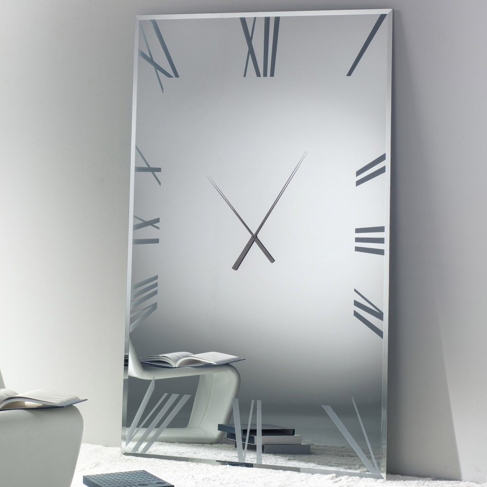 Contemporary Mirrored Wall Clock