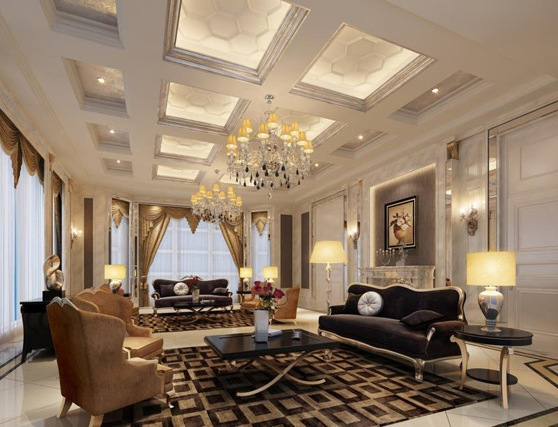 Luxury Living Room in Neutral Colors