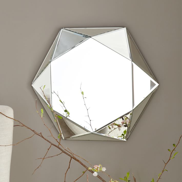 Small Hexagon Mirror