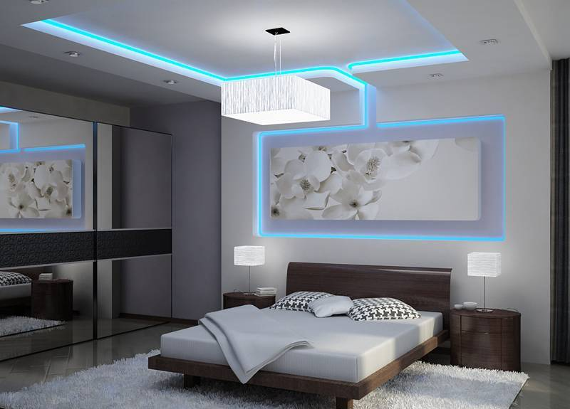 Illuminated Bedroom Walls