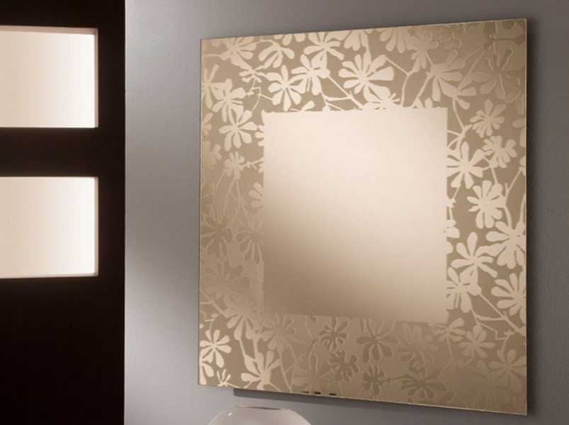 Mirror with Floral Pattern