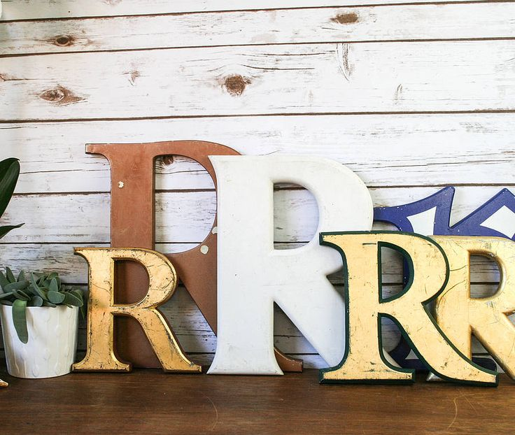 Vintage Letters Wall Decor