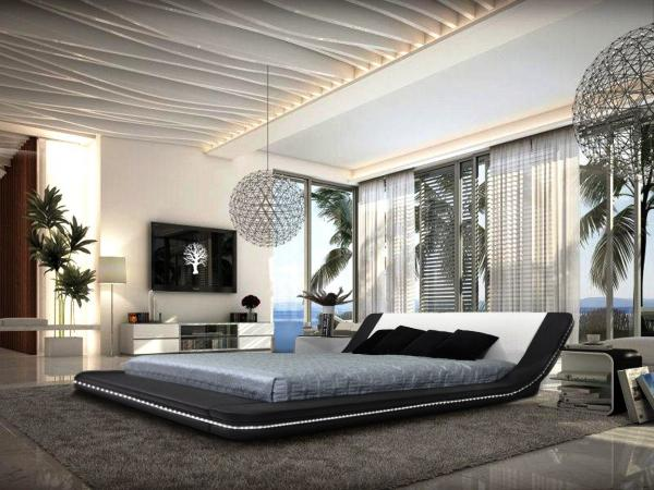 Bedroom in High-Tech Style