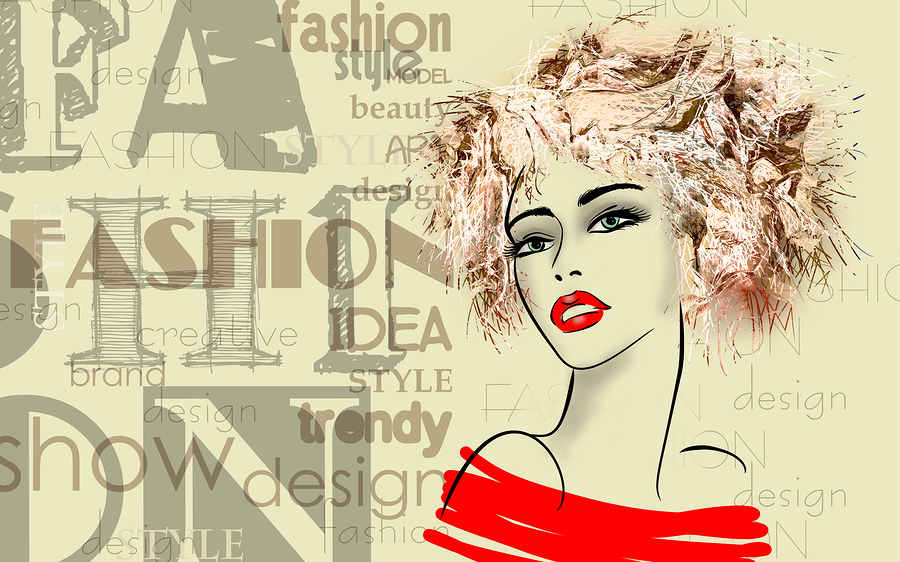 Art print for hair salon