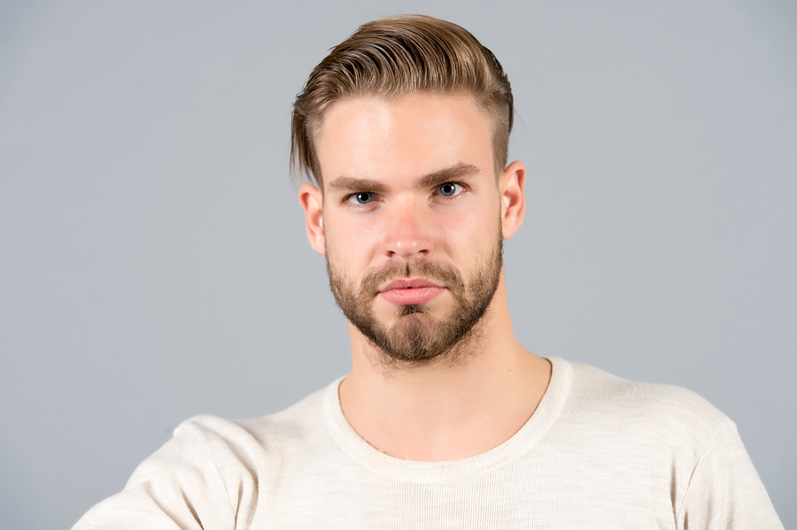 Man with beautiful haircut